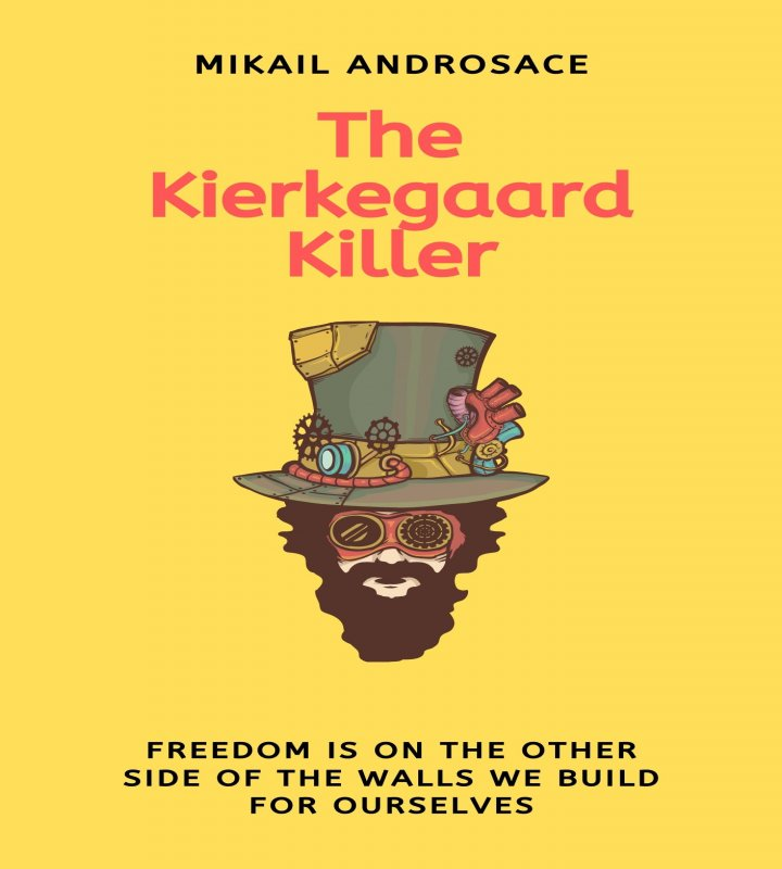 Front cover page of the Kierkegaard Killer literary novel
